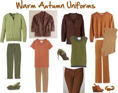"""Warm Autumn Uniforms"" by jeaninebyers on Polyvore"