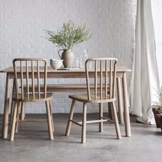Hudson Living Wycombe Oak Dining Chair (pair) - Modish Living Winter Sale