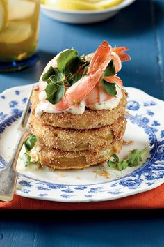 9 Ways with Green Tomatoes: Fried Green Tomatoes with Shrimp Rémoulade