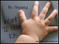 Infant 72 Hour Kit - Emergency Preparedness