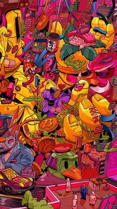 Illustrations Discover Best of Wallpapers for Andriod and ios Trippy Wallpaper Pop Art Wallpaper Dope Wallpapers Animes Wallpapers Psycadelic Art Marijuana Art Stoner Art Psy Art Cyberpunk Art Wallpaper 4k Iphone, Graffiti Wallpaper Iphone, Pop Art Wallpaper, Trippy Wallpaper, Aesthetic Iphone Wallpaper, Galaxy Wallpaper, Cartoon Wallpaper, Aesthetic Wallpapers, Marshmello Wallpapers