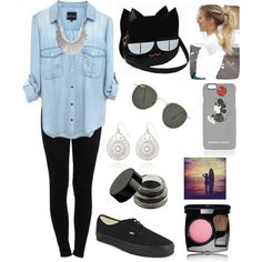 Untitled #104 by dias-elodieferreira on Polyvore featuring polyvore fashion style Pieces Vans The Limited Ray-Ban Markus Lupfer Chanel Surfer Girl