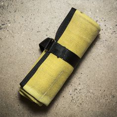 Recycled Fire Hose Tool Roll Yellow/Black - Cool Material