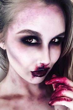 Glam and Sexy Vampire Makeup Ideas 2017 ★ See more: http://glaminati.com/vampire-makeup-ideas/