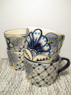 Ceramic mugs by BeautyByHandBoutique  $40