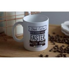 """likelife Tasse """"Drink coffee to do stupid things faster..."""""""