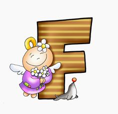 SGBlogosfera. Amigos de Jesús: Abecedarios Letter F, 26 Letters, Fairy Crafts, Printable Letters, Alphabet And Numbers, Crafts To Make, Fairy Tales, Clip Art, Prints