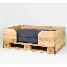 For our pups- perhaps even inside Diy Lit, Canis, Pallet Dog Beds, Dog Crate Furniture, Diy Dog Bed, Wood Dog, Dog Rooms, Animal Projects, Weathered Wood