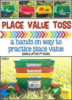 Place Value Toss is one of my favorite games to play when teaching and reviewing place value. It's hand on, engaging, and the kids love it. You can read all about how to play it on my blog.