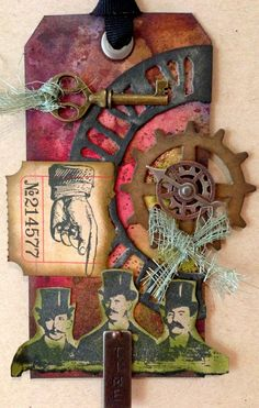 Tim Holtz Inspired Tag - Tim Holtz Inspired Gift Tag