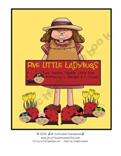 Five Little Ladybugs-Shared Reading Insect book