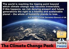 Learn about climate change, its effects and what we can do to help, with our enormous teaching pack. It includes topic guides, a video introduction, printable activity resources and display materials. Science Curriculum, Science Resources, Activities, Teaching Packs, The Tipping Point, About Climate Change, Geography, Packing, Shit Happens