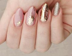 Ideas For Gorgeous Nails With Gold Foil Designs