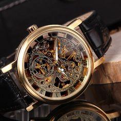 Steampunk Watch Mes gear watch skeleton Watch by sydneyjewellery