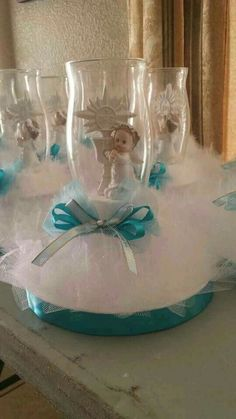 See the source image Boy Baptism Centerpieces, Baptism Party Decorations, Communion Centerpieces, Baptism Favors, Baby Shower Favors, Baby Shower Parties, Baby Shower Themes, Baby Shower Decorations, Balloon Decorations