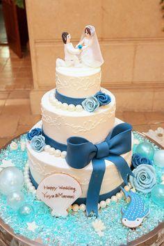夏にぴったり♪青ゼリーde海のマリアージュケーキ