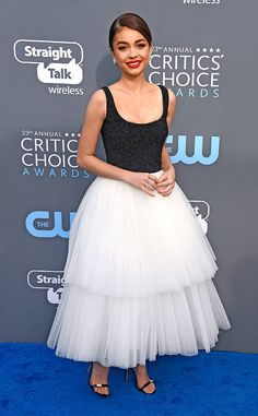 Sarah Hyland from 2018 Critics' Choice Awards Red Carpet Fashion  After celebrating the 200th episode of Modern Family this week, the actress is ready to keep the fun going in Santa Monica.