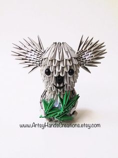 3d Origami Koala Origami 3d Koala Origami by ArtsyHandsCreations