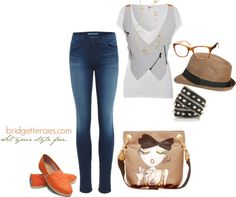 """White T and Jeans"" by bridgetteraes on Polyvore"