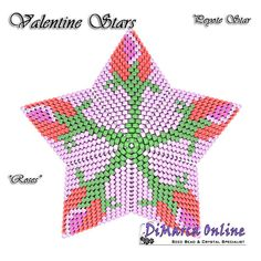 TUTORIAL VALENTINE ROSES 3D PEYOTE STAR + Basic Instructions Little 3D Peyote Star This beading pattern provides a colour diagram and text to create the Valentine Roses 3D Peyote Star. Included are also thestep by step instructions with clear 3D images of how to create a 3D Starin