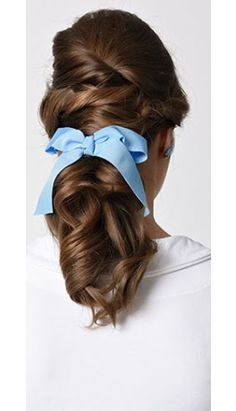 From our Beauty and the Beast Collection: Light Blue Ribbon Bow Hair Clip