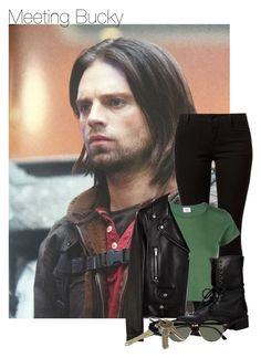 """""""Meeting Bucky"""" by thatweirdgirlkris ❤ liked on Polyvore featuring Sebastian Professional, Dorothy Perkins, RE/DONE, Yves Saint Laurent, Steve Madden, Ray-Ban and bedroom"""