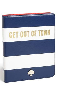 'get out of town' iPad folio