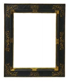 An Italian Ebonised and Parcel Gilded Cassetta Frame, 16th century, with cavetto sight, bolection, the frieze with foliate scrollwork centres and corners, plain back edge, 63x48.5cm - Price Estimate: £2500 - £3000