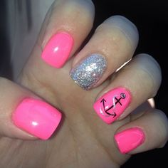 LOVE the pink! Maybe wouldn't do the anchor though.