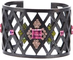 Givenchy Vintage 'Corset' lattice cuff on shopstyle.com