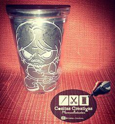 Tallado en vidrio Daryl The Walking Dead