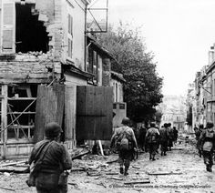 US troops in Cherbourg,1944,pin by Paolo Marzioli