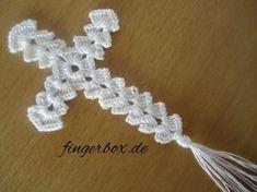 Crochet ideas that you'll love Crochet Bookmark Pattern, Crochet Bookmarks, Crochet Motif, Crochet Doilies, Crochet Flowers, Crochet Patterns, Crochet Angels, Crochet Cross, Thread Crochet