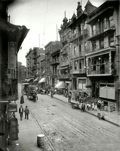 Nyc Manhattan Chinatown section Mott street 1914,I could sit on that balcony watch the world go by