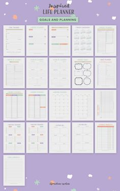 The Inspired Life Planner is here! A pretty printable life planner kit, Study Planner, Goals Planner, Blog Planner, Planner Pages, Life Planner, Weekly Planner, Happy Planner, Printable Planner, Free Printables