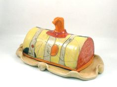 Ceramic Butter Dish  / two toned butter keeper by BlueSkyPotteryCO, $55.00