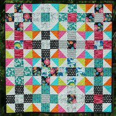 Mod Nine Patch Quilt Pattern | Craftsy - Free Pattern