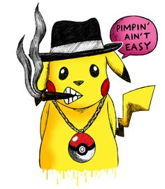 Vandal - Pimpin Aint Easy by demoose21 #typography #design #brazil #brasil #cool #selling #cartoon #character
