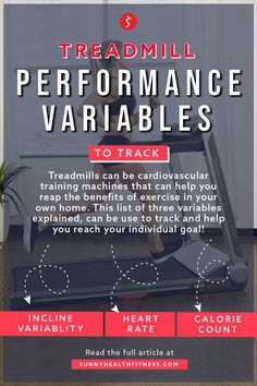We know that there are a lot of variables you can track on a decked-out treadmill. So, we made a list of three variables you can track to reach your individual running goal. Read the article for more details on how to up your sweat game with the three variables above. #sunnyhealthfitness #treadmill #treadmillworkout #performance #performanceworkout #performancetreadmill