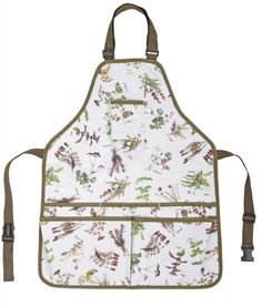 6 Gardener's Aprons + Other GREEN Gifts ~ Herb Print Garden Apron