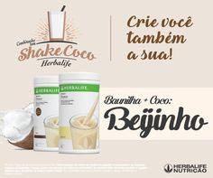 SHAKE BEIJINHO  Segunda-feira é dia de inovar! Que tal fazer um shake beijinho? É só combinar o Shake Coco + Shake Baunilha e se deliciar. Marque nos comentários alguém que vai amar essa combinação!  Whatsapp +55(11)97153-0245  messenger http://m.me/focoemvidasaudavel   Loja https://www.goherbalife.com/silvana