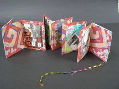 Artist Trading Cards...accordian fold booklet to store ATC's