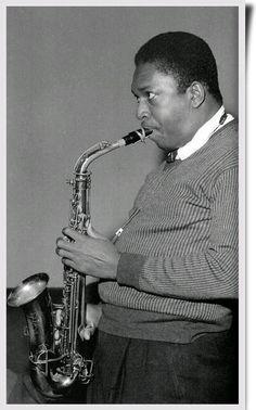 John Coltrane on alto sax