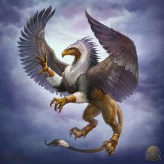 Griffin by Gellihana-art Mythical Creatures Art, Mythological Creatures, Magical Creatures, Fantasy Creatures, Creature Concept Art, Creature Design, Griffon Tattoo, Greif Tattoo, Griffin Mythical