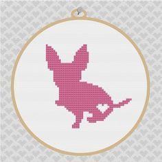 Chihuahua Silhouette Cross Stitch PDF Pattern by kattuna on Etsy, $3.50
