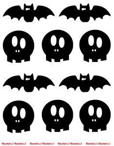 Imprimibles-Halloween-Fiestafacil Halloween Infantil, Moldes Halloween, Halloween Templates, Bricolage Halloween, Halloween Sewing, Adornos Halloween, Manualidades Halloween, Halloween Embroidery, Halloween Vector
