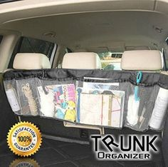 Car Trunk Organizer Backseat Auto Interior Foldable Removable Heavy Duty  Storage Mesh Backseat  Multipurpose And
