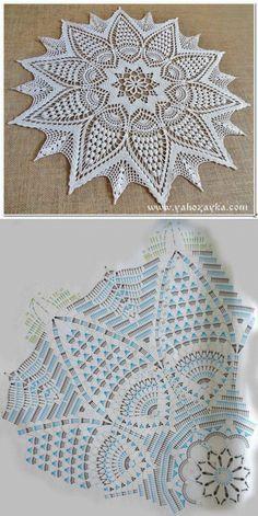 Free Crochet Doilies diagram Strategies Bonito y sencillo centro de ganchillo. – Wzory – Hottest Free Crochet Doilies diagram Strategies Bonito y sencillo centro de ganchillo. Motif Mandala Crochet, Free Crochet Doily Patterns, Crochet Doily Diagram, Crochet Circles, Crochet Chart, Crochet Designs, Free Pattern, Rug Patterns, Crochet Dollies