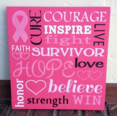 Breast Cancer Sign by TheBurlapButterfly on Etsy, $30.00