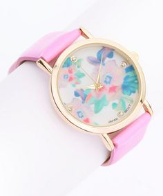 Another great find on #zulily! Lilac Crystal Floral  Watch #zulilyfinds